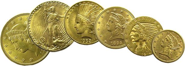 Monnaies américaines en or