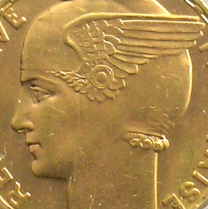 Französischen gold Münzen