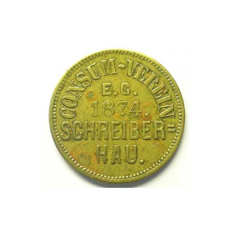 Schreiberhau Schlesien Consum Verein Eg 1 Mark 1874 Ttb