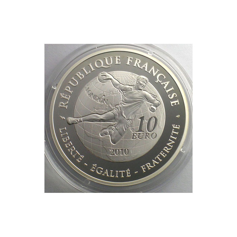 Gedenkmünzen Frankreich 10 Jeux Dété Handball 2010 37mm 222 G