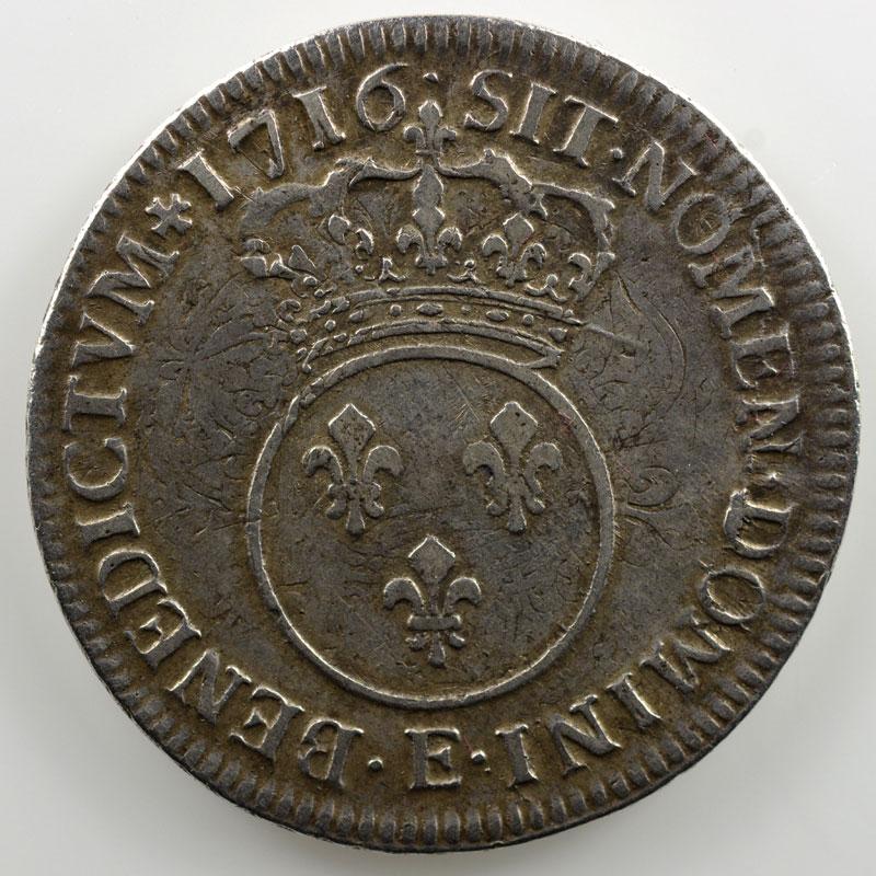 1716 E  réf.  (Tours)    TB+/TTB