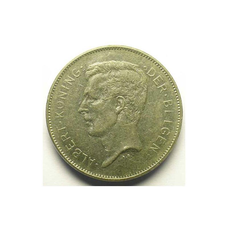 20 Francs - 4 Belga   légende flamande   1932    TB+/TTB
