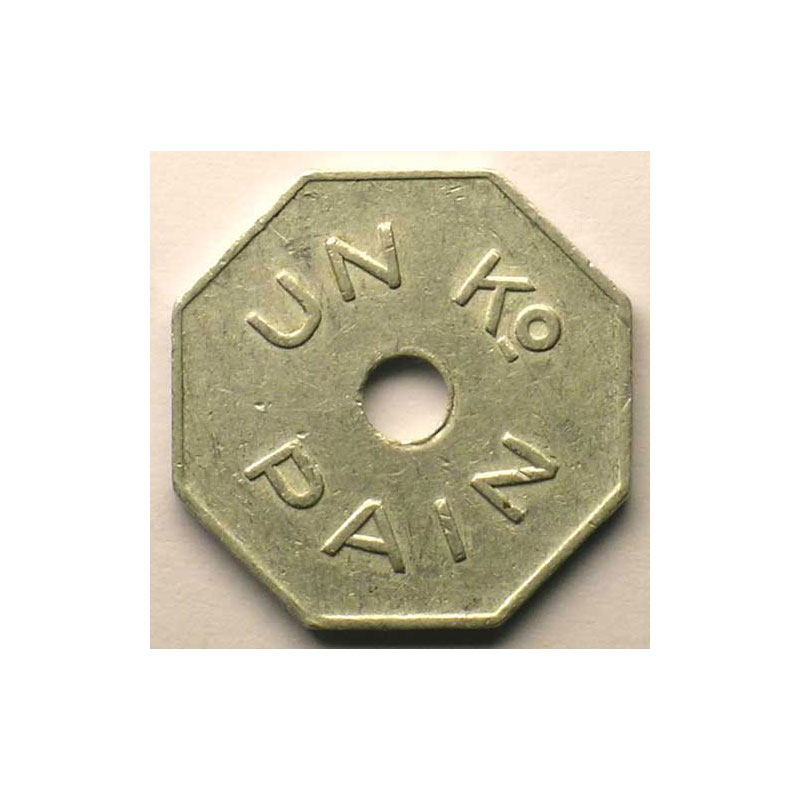 Dour   Sté Cive Les Socialistes Réunis   1 Kg Pain   Alu, 8 tr.    TB+/TTB