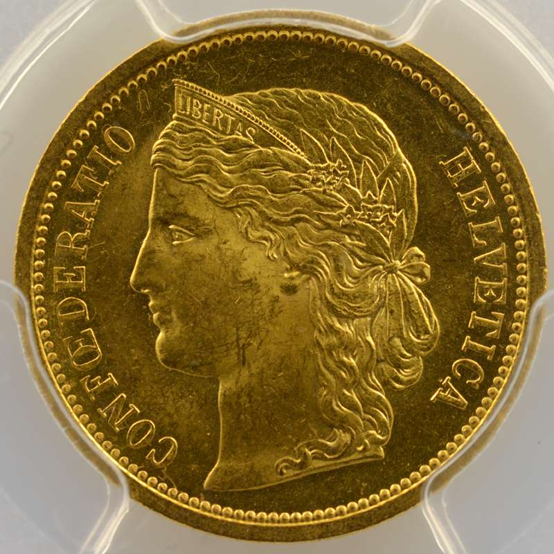 20 Francs   1883    PCGS-MS63    SUP/FDC