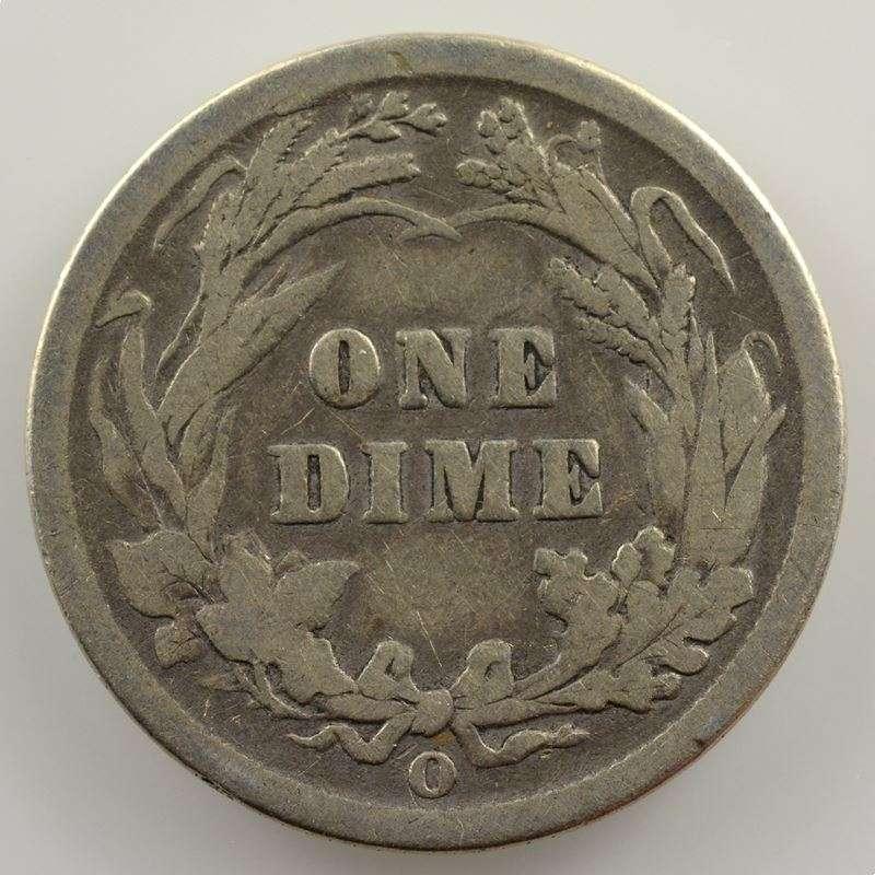 One Dime   1893 O  (Nouvelles Orléans/New Orleans)   Liberty head    B