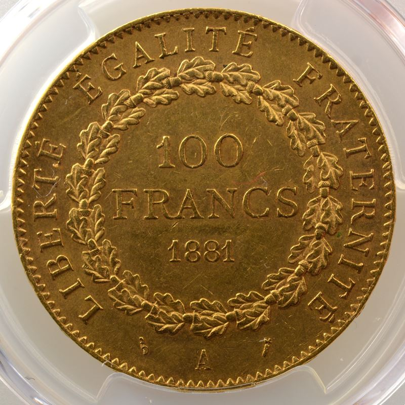 1881 A  (Paris)    PCGS-AU58    SUP