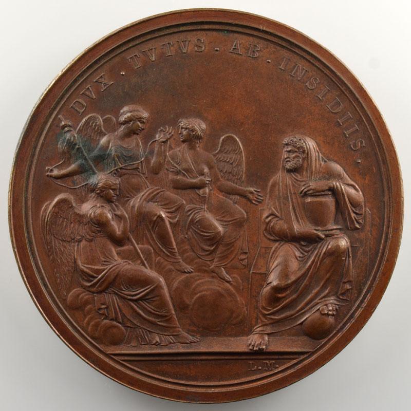 MANFREDINI L.   Attentat à la vie de Bonaparte   Anno III (1800)   bronze   59 mm    SUP
