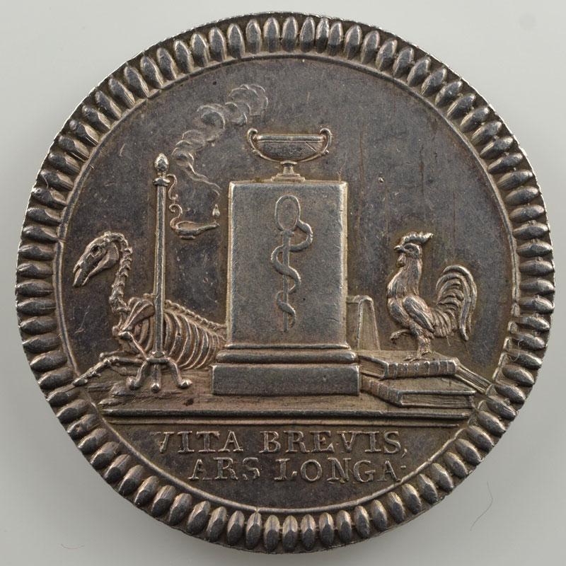 jeton rond en argent  29mm   Société médico-pratique   1808    SUP