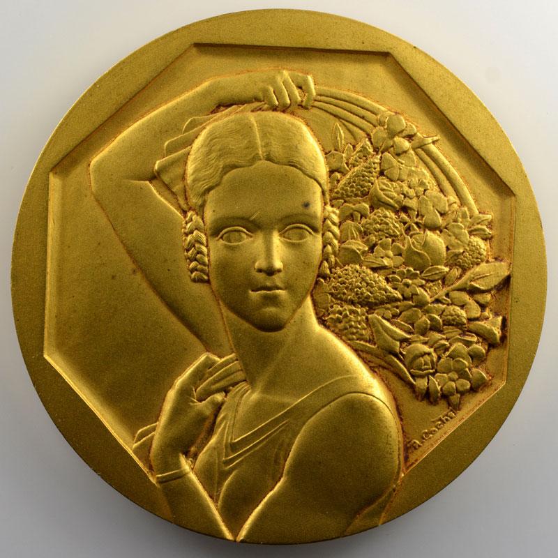 Cochet Robert    Sté d'Horticulture de la Moselle   Médaille en bronze doré  68mm    SUP/FDC