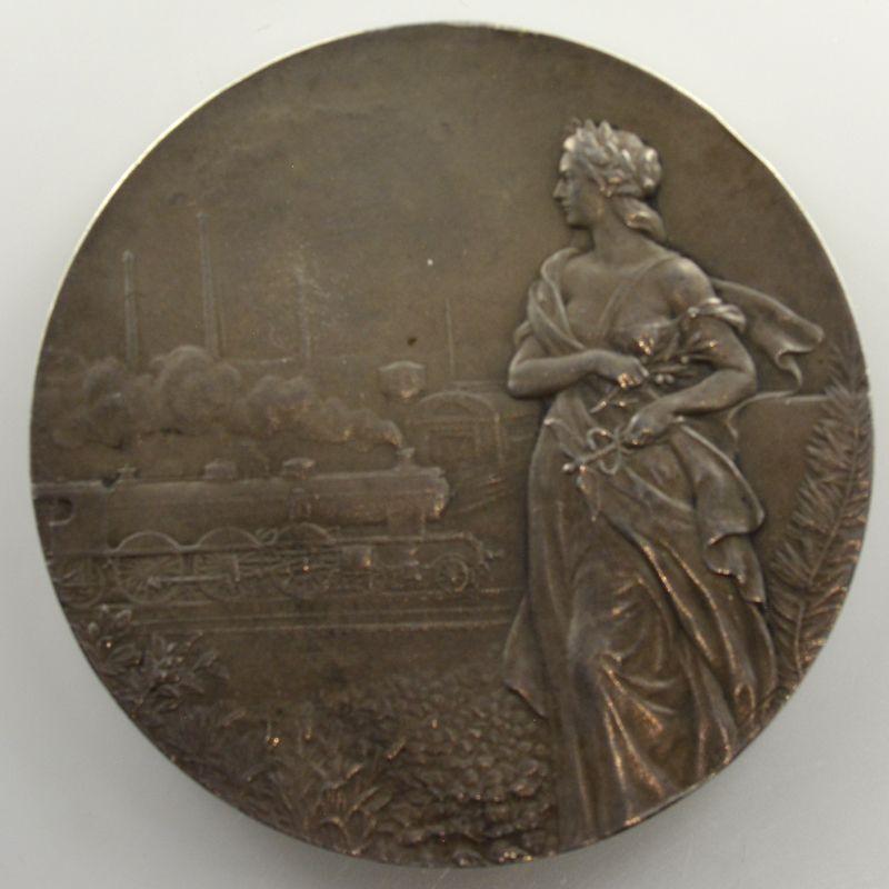 Lebarque   Médaille en argent   50mm   Compagnie du chemin de fer du Nord    SUP/FDC