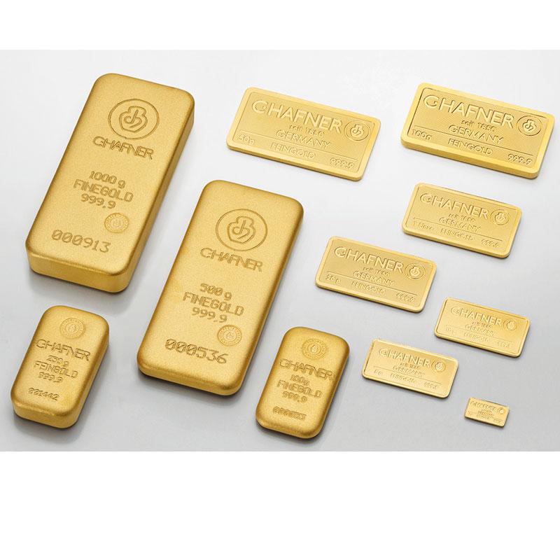 Lingotin 50 g or 999,9 mill.   C-HAFNER seit 1850  Germany    NEUF sous blister numéroté