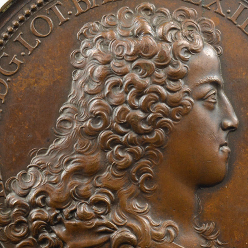 Ferdinand de SAINT-URBAIN   la Neutralité   1706   bronze   59mm    SUP