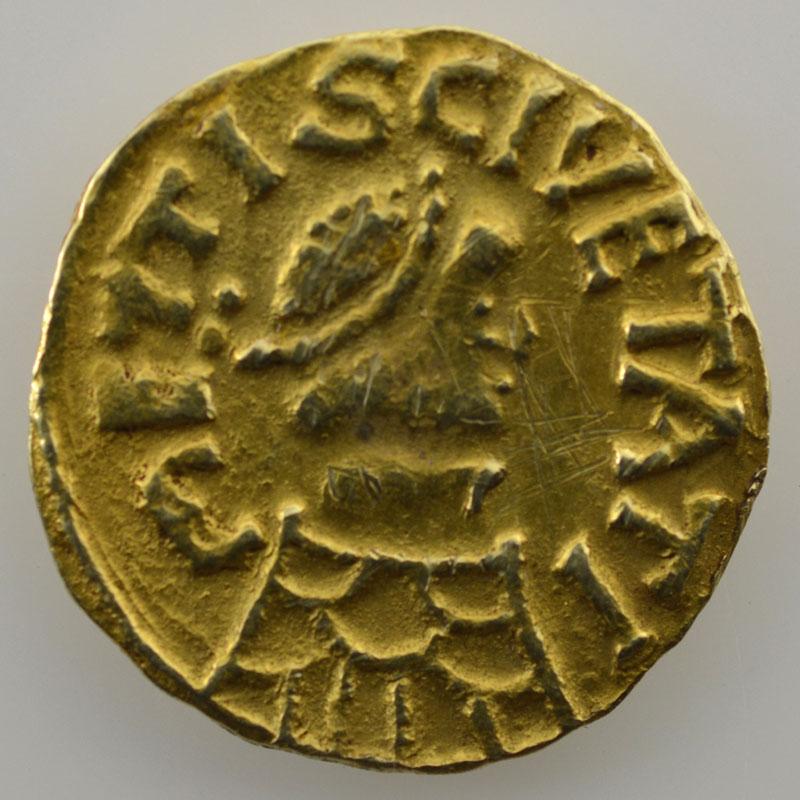 Triens en or   Monétaire Ansoaldus (Metz, vers 620-640)    TTB