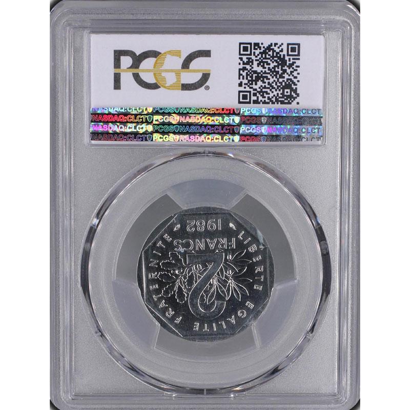 G.546P   2 Francs   1982  Piéfort en argent    PCGS-SP65    FDC