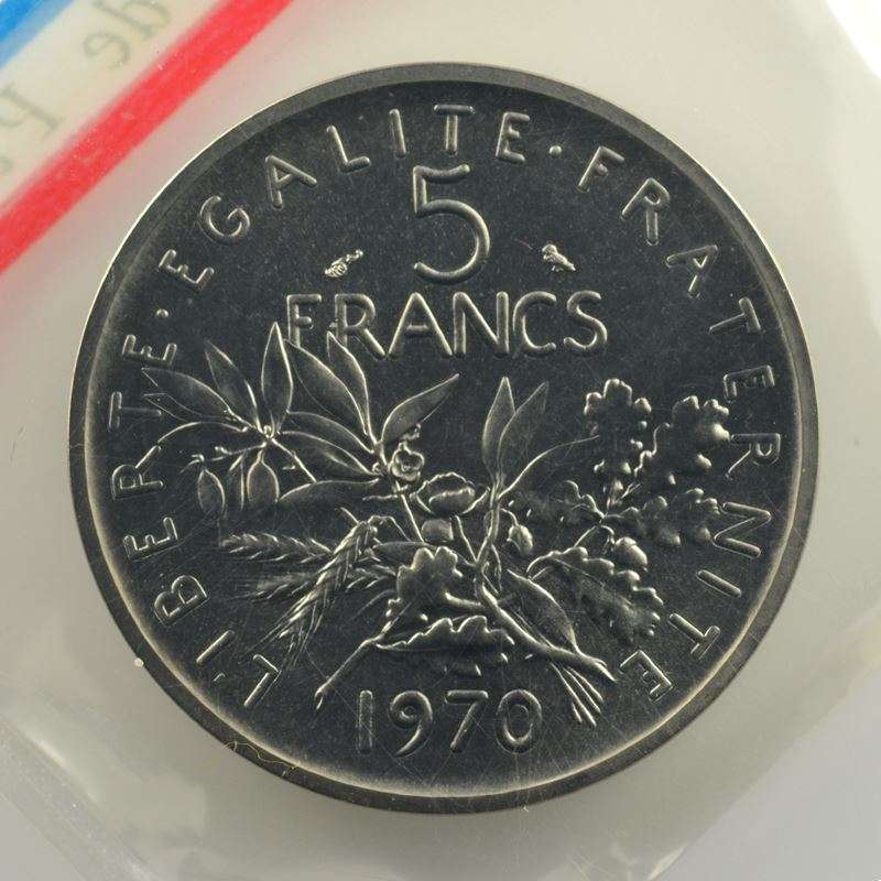 G.771P   5 Francs   1970 nickel    FDC