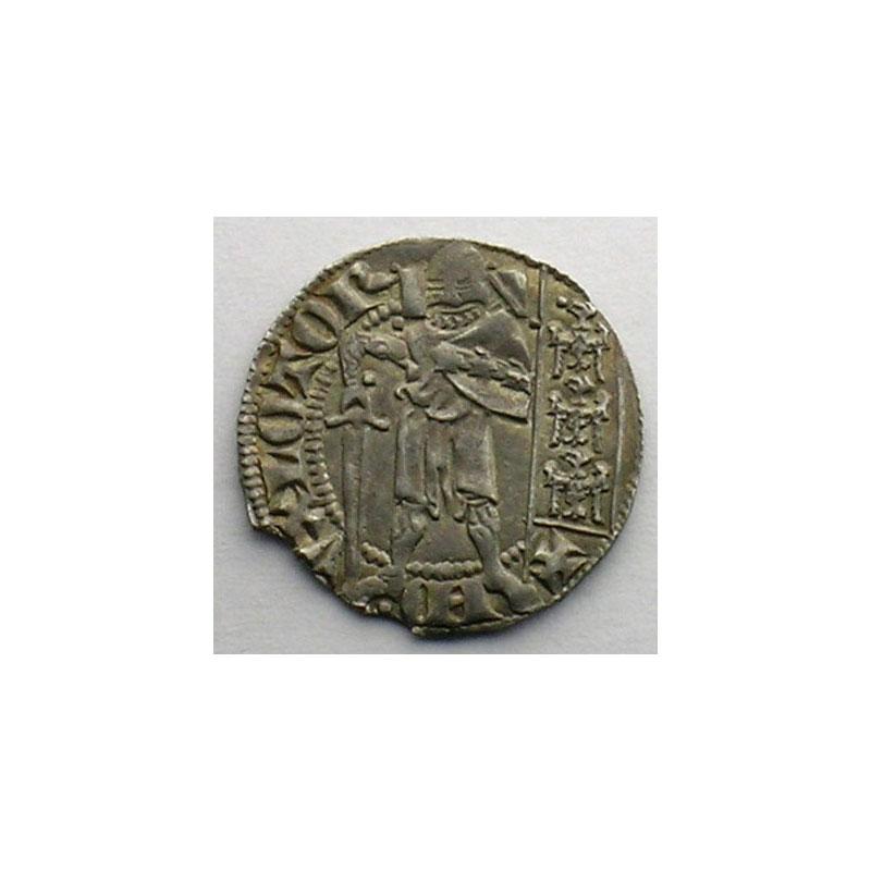 Numismatic foto  Münzen Lothringische Münzen Herzogtum von Lothringen Ferri IV   (1312-1329) Quart de Gros dit Spadin   Nancy    TTB+/SUP