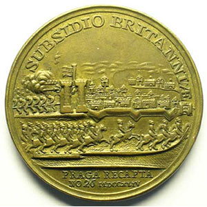 (Kirk)   Médaille en cuivre   41mm   1744    TTB