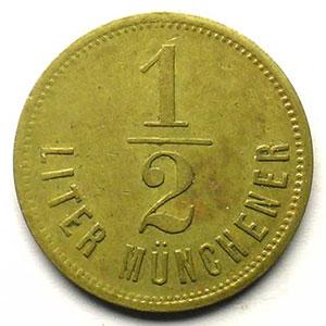 1/2 Liter Münchener   Lt, R   23,5 mm   TTB