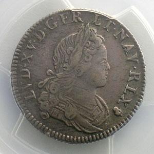 1/4 Ecu de France-Navarre   1718 S  (Reims)   PCGS-XF45    TTB