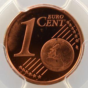 1 Cent   2001    PR66RD DCAM    BE