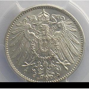 1 Mark   1908 F  (Stuttgart)    PCGS-MS64+    pr.FDC
