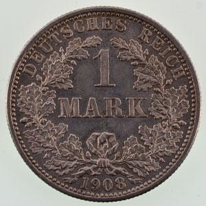 1 Mark  1908 F   SUP/FDC