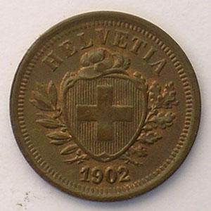 1 Rappen   1902 B    SUP