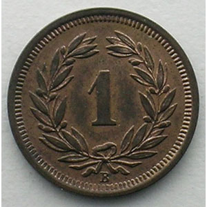 1 Rappen   1914 B    FDC