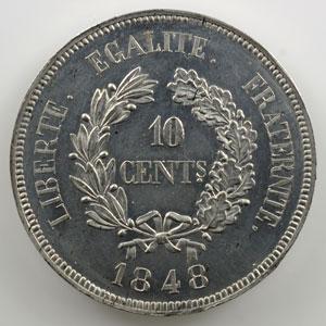 10 Centimes   1848   2° Concours de Gayrard   étain   revers b    SUP/FDC