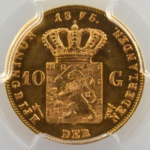10 Gulden   1875    PCGS-MS66+    FDC