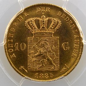 10 Gulden   1885    PCGS-MS66+    FDC