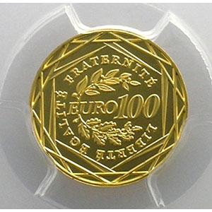 100 €   2008    PCGS-MS70    BE