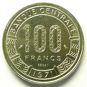 100 Francs   1971 Essai    FDC