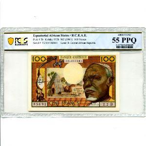 100 Francs   ND (1963)    SUP+    PCGS-AU55   PPQ