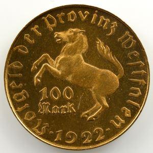 100 Mark   1922   Minister vom Stein    FDC
