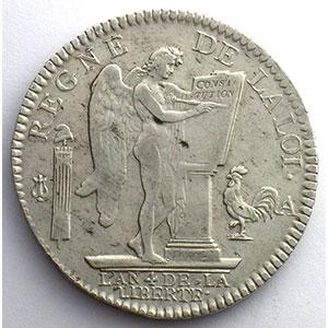 1792 A  2° sem.  (Paris)    TB+/TTB