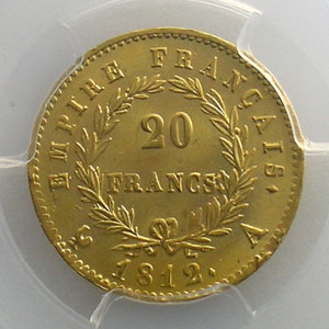 1812 A  (Paris)    PCGS-MS65    FDC