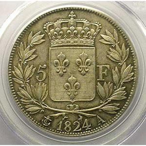 1824 A  (Paris)    PCGS-MS62    SUP/FDC