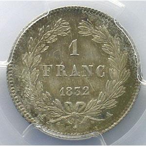 1832 A  (Paris)    PCGS-MS64+    pr.FDC