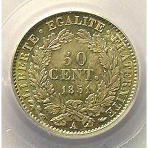 1851 A  (Paris)    PCGS-MS64    pr.FDC
