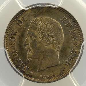 1854 A  (Paris)    PCGS-MS63    SUP/FDC