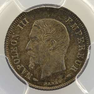 1854 A  (Paris)    PCGS-MS64    pr.FDC