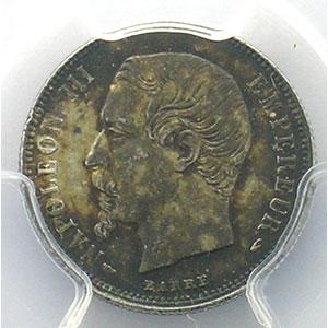 1855 A  (Paris)    PCGS-MS62    SUP/FDC
