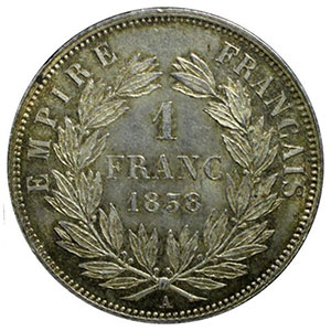 1858 A  (Paris)    PCGS-MS63    SUP/FDC