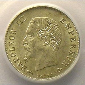 1860 A  (Paris)    PCGS-AU58    SUP