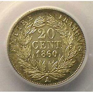 1860 A  (Paris)    PCGS-MS63    SUP/FDC
