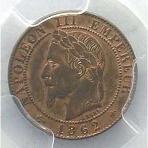 1862 A  (Paris)    PCGS-MS63RB    pr.FDC