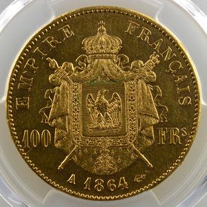1864 A  (Paris)    PCGS-AU53    TTB+