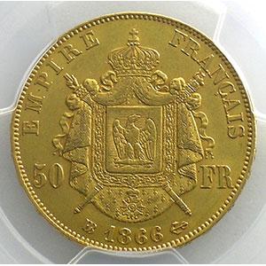 1866 BB  (Strasbourg)    PCGS-AU58    SUP