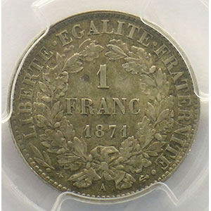 1871 petit a   (Paris)    PCGS-MS61    SUP/FDC